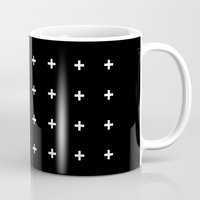 White Plus on Black /// www.pencilmeinstationery.com Mug