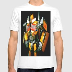 The Golden Optimus White Mens Fitted Tee SMALL