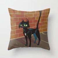 Cat City Throw Pillow