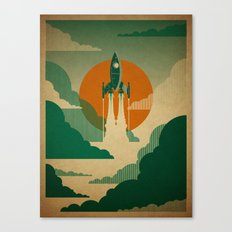 The Voyage (Green) Canvas Print