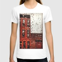 Rainy Day In Brooklyn Womens Fitted Tee White SMALL