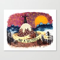 And A Wizard Canvas Print