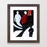 Mørk Svart Framed Art Print