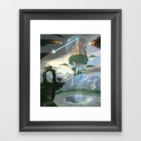 Sky Fortress Framed Art Print
