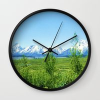 Spring Tetons Wall Clock