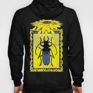 Yellow Sunflower & Blue-… Hoody