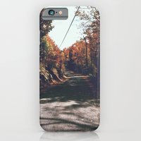 iPhone & iPod Case featuring Kenisis lake fall road by MackenzieM