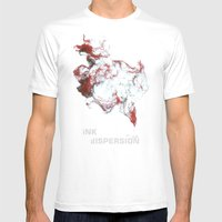 Ink Dispersion Mens Fitted Tee White SMALL