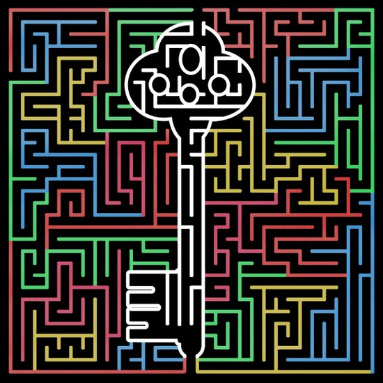 maze-black Art Print