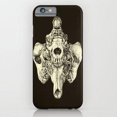 Coyote Skulls - Black and White iPhone 6s Slim Case