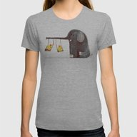 Elephant Swing Womens Fitted Tee Athletic Grey SMALL
