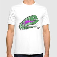 Cannon Ball (Green&Pink) Mens Fitted Tee White SMALL