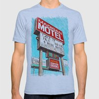 Retro signage Mens Fitted Tee Athletic Blue SMALL
