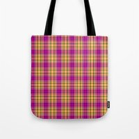 Plaid 6 Tote Bag