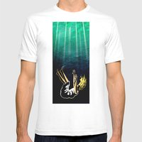 AWAY Mens Fitted Tee White SMALL