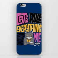 C.R.E.A.M. Cats Rule Everything Around Me iPhone & iPod Skin