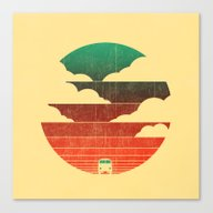 Canvas Print featuring Go West by Budi Kwan