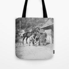 Blacksmith at work Tote Bag