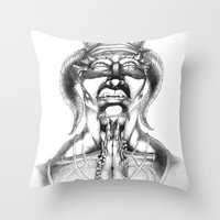 Prayer (Pencil) Throw Pillow