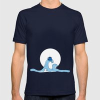 Coffee Wave Mens Fitted Tee Navy SMALL