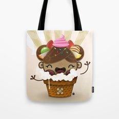 Ice Cream Chestnut Girl Tote Bag