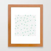 Pin Point Hearts Mint Framed Art Print