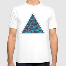 Triangulation (Inverted) White SMALL Mens Fitted Tee