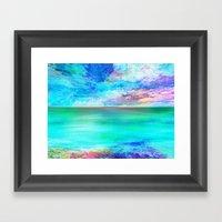 Ocean at Sunrise Framed Art Print