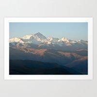 Mount Everest At Dawn Art Print