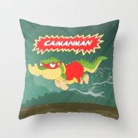 Caimanman Throw Pillow