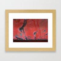 Peeling Red Framed Art Print