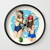 We're Here To Clean Your… Wall Clock