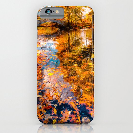 Boston Fall Foliage Reflection iPhone & iPod Case