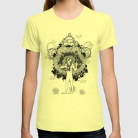 Groundwalker Womens Fitted Tee Lemon SMALL