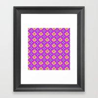 Pop pansy pattern! Framed Art Print