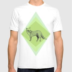 fox in forest SMALL White Mens Fitted Tee