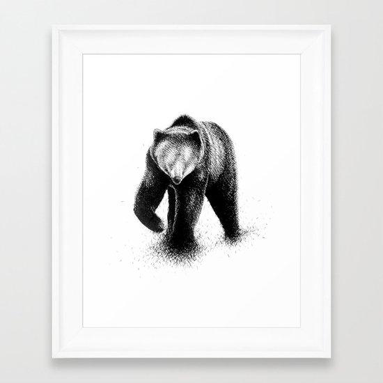 B-Bear Framed Art Print