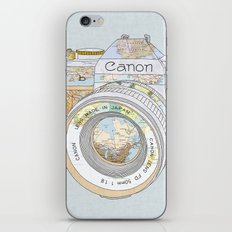 Travel Canon iPhone & iPod Skin