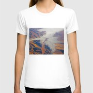 Misty Mountains Womens Fitted Tee White SMALL