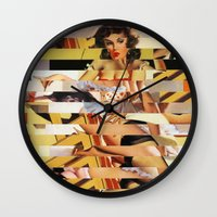 Glitch Pin-Up Redux: Vanessa  Wall Clock