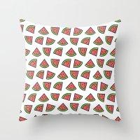 Chunks of Watermelon Throw Pillow