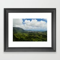 The Pali Lookout Framed Art Print