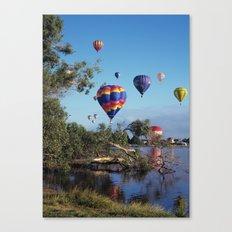 Hot air balloon scene Canvas Print