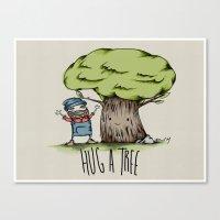 Hug a tree Canvas Print