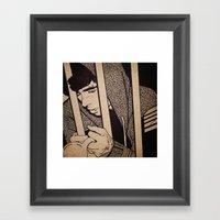 Drawing On Wood Framed Art Print