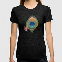 Color My World Green Womens Fitted Tee Tri-Black SMALL