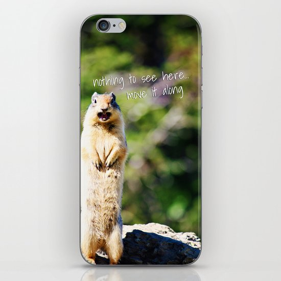 Angry Squirrel Has A Friend iPhone & iPod Skin