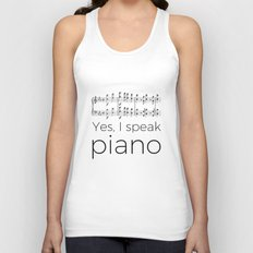 I speak piano Unisex Tank Top