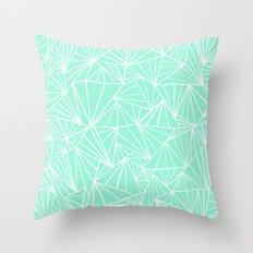 Ab Fan Mint Throw Pillow