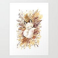 forest Art Prints featuring Slumber by Freeminds